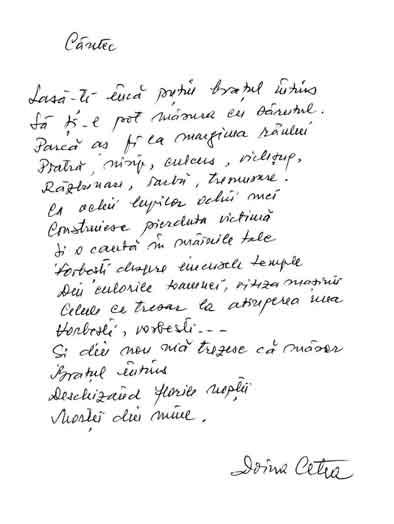 Click aici pentru a vizualiza Manuscrisul - Doina CETEA