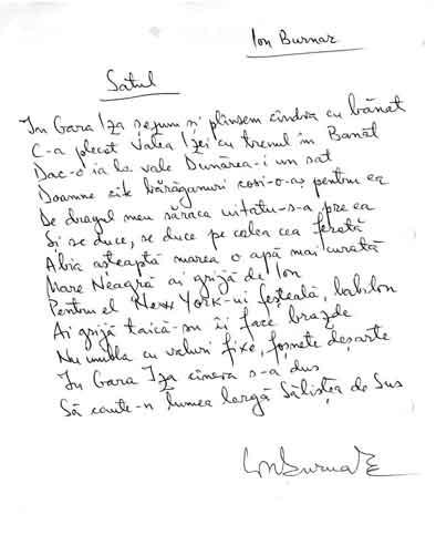 Click aici pentru a vizualiza Manuscrisul - Ion BURNAR