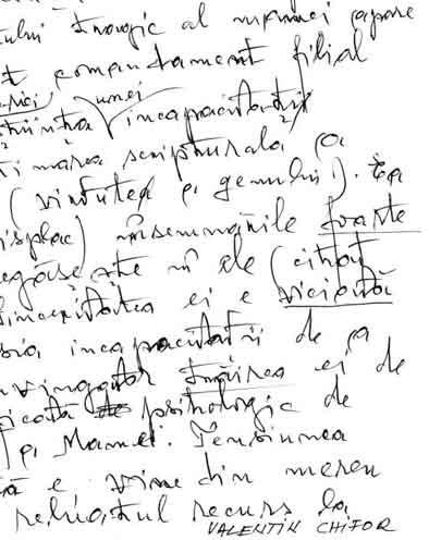 Click aici pentru a vizualiza Manuscrisul - Valentin CHIFOR