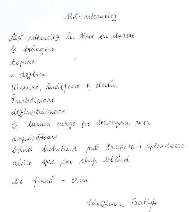 Click aici pentru a vizualiza Manuscrisul - Sânziana BATIŞTE