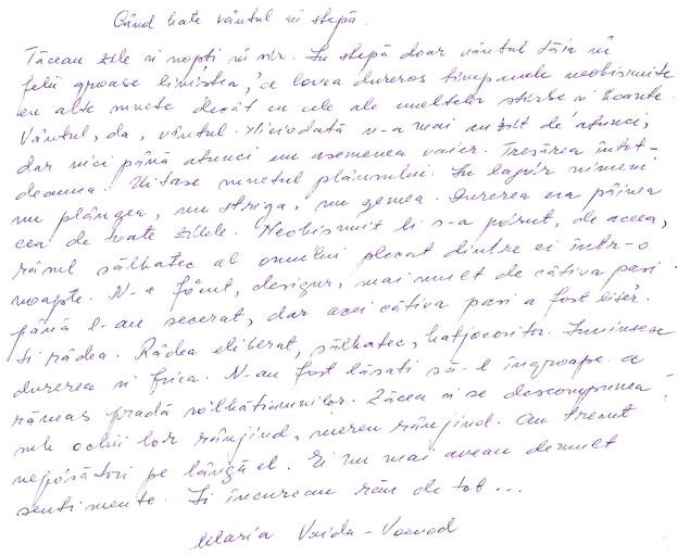 Click aici pentru a vizualiza Manuscrisul - Maria VAIDA-VOEVOD