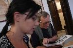 Laura Poantă şi Petru Poantă Sibiu 2011 _ http://www.uniuneascriitorilor-filialacluj.ro/Poze/carti/Cu_laura_Poanta_la_Sibiu.jpg