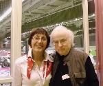 Mariana Gorczyca si Norman Manea la Goteborg _ http://www.uniuneascriitorilor-filialacluj.ro/Poze/carti/DSCI0057.JPG